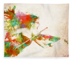 Chick Digital Art Fleece Blankets