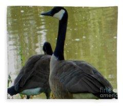 Canada Goose Edge Of Pond Fleece Blanket
