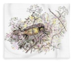 Canada Warbler Fleece Blanket