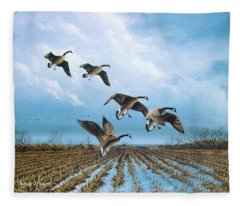 Canadian Cold Front Fleece Blanket