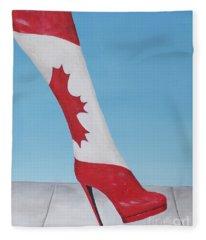 Canadian Kinky Boot Fleece Blanket