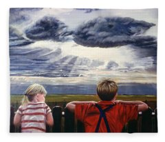 Canadian Prairies Fleece Blanket