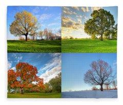 Canadian Seasons Fleece Blanket