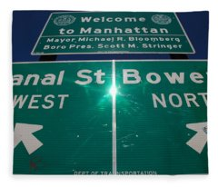 Canal And Bowery Fleece Blanket