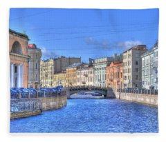 Canal In St. Petersburgh Russia Fleece Blanket