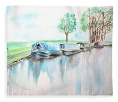 Canal Journey Fleece Blanket