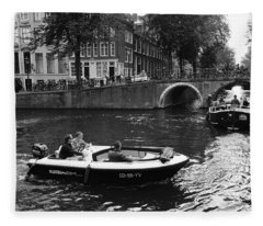 Canal Life Amsterdam Fleece Blanket