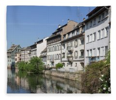 Canal View Strasbourg France Fleece Blanket