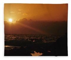 Canary Islands Sunset Fleece Blanket