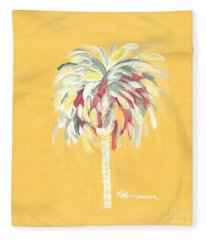 Canary Palm Tree Fleece Blanket