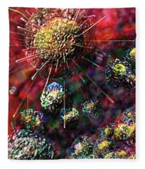 Cancer Cells Fleece Blanket