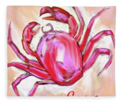 Cancer The Crab Fleece Blanket
