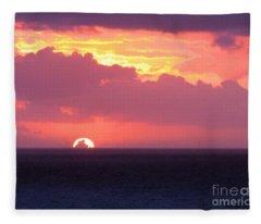 Sunrise Interrupted Fleece Blanket