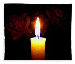 Candlelight And Roses Fleece Blanket