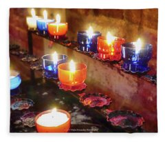 Candles Fleece Blanket