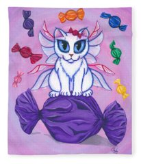 Candy Fairy Cat, Hard Candy Fleece Blanket