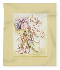 Candy Stick Beans Fleece Blanket