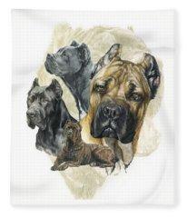 Cane Corso Medley Fleece Blanket