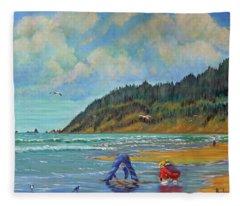 Cannon Beach Kids Fleece Blanket