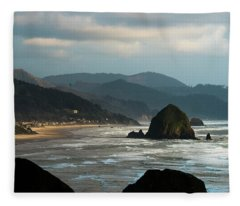 Cannon Beach, Oregon Fleece Blanket