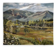 Cannon Mountain From Sugar Hill New Hampshire Fleece Blanket