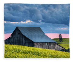 Canola Sunset Fleece Blanket