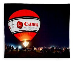 Canon - See Impossible - Hot Air Balloon Fleece Blanket
