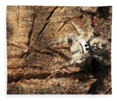 Canopy Jumping Spider Fleece Blanket