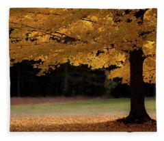 Canopy Of Autumn Gold Fleece Blanket