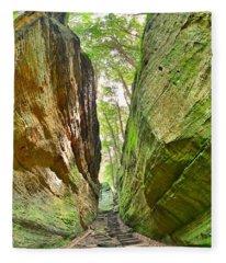 Cantwell Cliffs Trail Hocking Hills Ohio Fleece Blanket