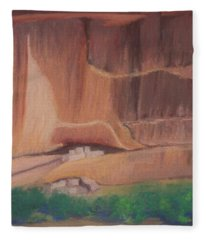 Canyon De Chelly Cliffdwellers #2 Fleece Blanket