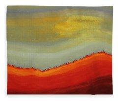 Canyon Outlandish Original Painting Fleece Blanket