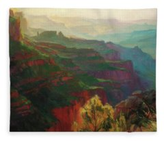 Canyon Silhouettes Fleece Blanket