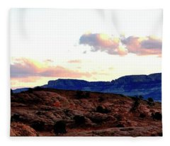Canyon Sunset Fleece Blanket
