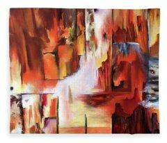 Canyon Walls Fleece Blanket