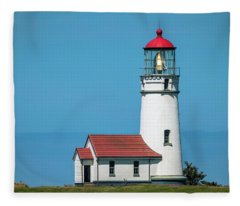Cape Blanco Lighthouse At Cape Blanco, Oregon Fleece Blanket