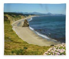 Cape Blanco On The Oregon Coast By Michael Tidwell Fleece Blanket
