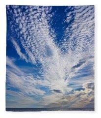Cape Clouds Fleece Blanket