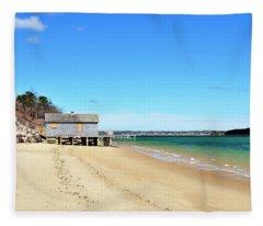 Cape Cod Beach Chatham Massachusetts Fleece Blanket