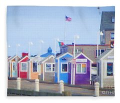 Cape Cod Cabins Fleece Blanket