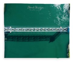 Cape Cod Canal Railroad Bridge Fleece Blanket