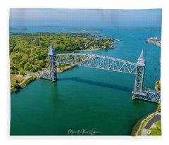 Cape Cod Canal Railroad Fleece Blanket
