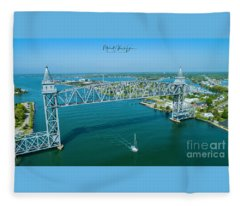 Cape Cod Canal Suspension Bridge Fleece Blanket