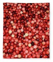 Cape Cod Cranberries Fleece Blanket