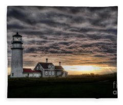 Cape Cod Lighthouse Fleece Blanket