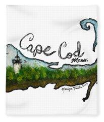 Cape Cod, Mass. Fleece Blanket