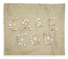 Cape Cod Seashells Fleece Blanket