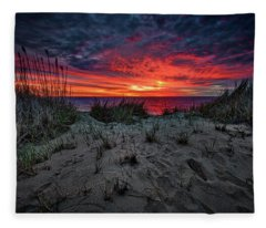 Cape Cod Sunrise Fleece Blanket