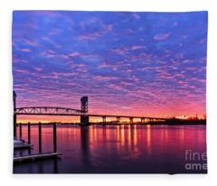 Cape Fear Bridge1 Fleece Blanket