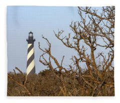 Cape Hatteras Lighthouse Through The Brush Fleece Blanket